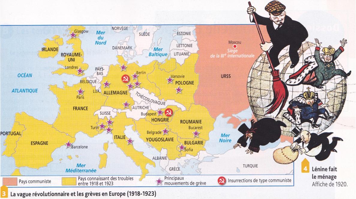 carte europe 1919
