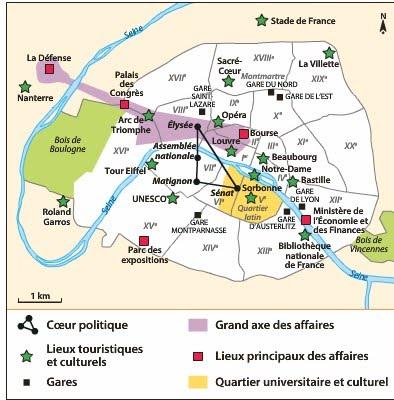 Groupe a expliquer et d crire le poids et le rayonnement for Lieux touristiques paris